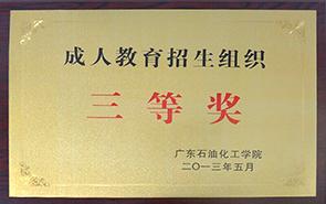 成人教育招生组织三等奖
